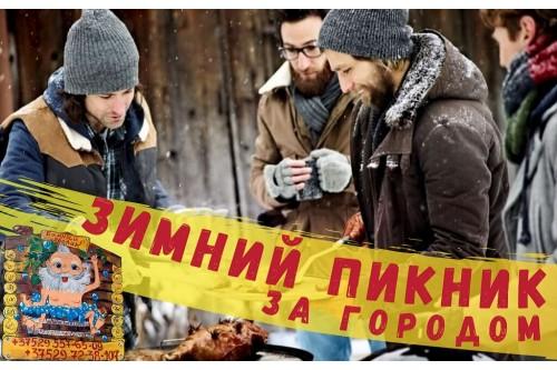 Зимний пикник за городом